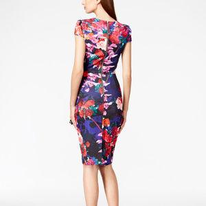 Betsey Johnson | Floral Cap-Sleeve Sheath Dress 4